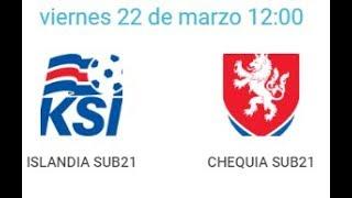 22/03/2019 Pinatar Football SUB21: ICELAND - CZECH REPUBLIC
