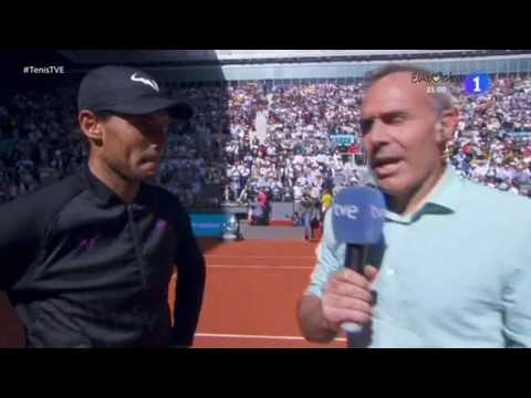 Rafael Nadal On-court interview / SF Madrid Open 2017T