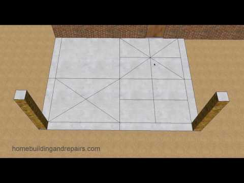 Control Joint Layout Design Ideas For Concrete Patios With Columns
