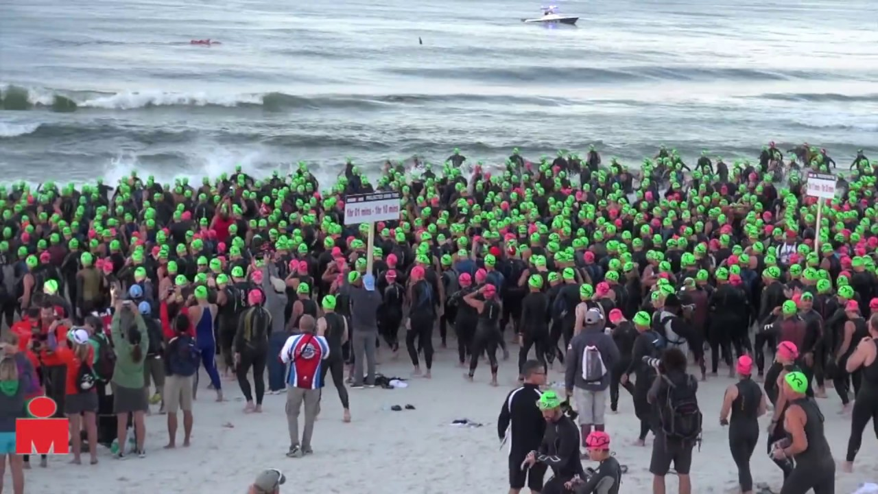 2013 IRONMAN Florida: Age Group Swim Start