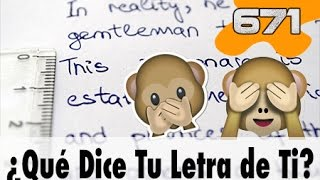 10 Cosas que tu Letra dice de Ti | 671 What the Fact! Datos Curiosos Datos Curiosos