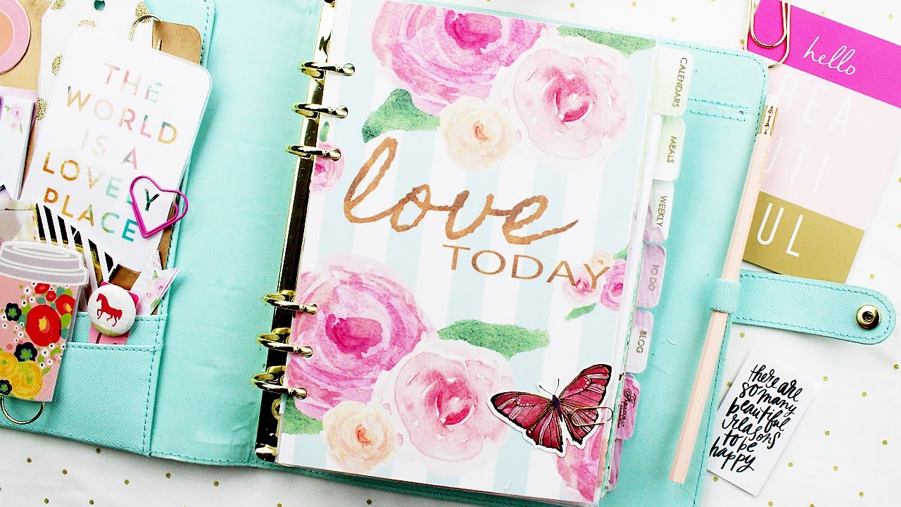 diy planner dashboard setup for kikki k filofax youtube