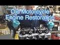 Old Motorcycle Engine Restoration - Freeing Stuck Pistons 1972 Honda CB 750