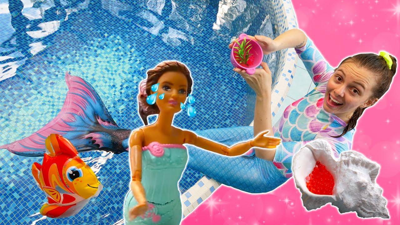 Las lágrimas mágicas de la sirena. Vídeos de Barbie sirena. Vídeos para niñas
