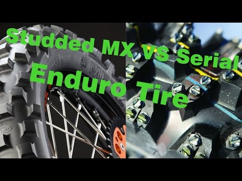 Studded MX vs Serial Enduro Tires | Kolce vs Guma