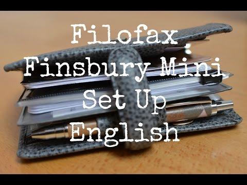 Filofax Finsbury Mini Set Up {[English]}