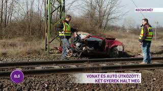 Vonat és autó ütközött: két gyerek halt meg