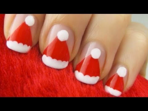 Easy Santa Claus Hat Nails Youtube