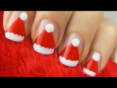 Easy Santa Claus Hat Nails - Easy Santa Claus Hat Nails - YouTube