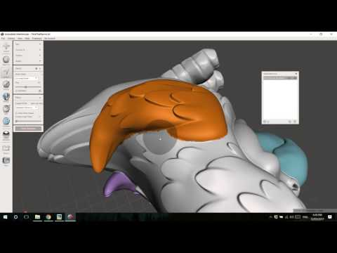 Splitting 1 STL into 4 STLs for multi-color & multi-material 3D printing with Meshmixer