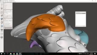 Fractionnement 1 STL en 4 STLs pour le multi-color multi-matériaux d'impression 3D avec Meshmixer