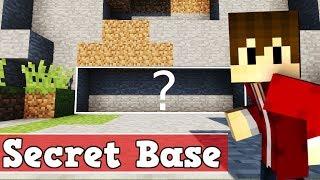 Wie baut man eine geheime Basis in Minecraft | Minecraft geheime Base bauen deutsch Tutorial