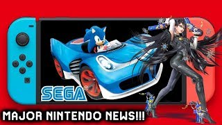 Major Switch News: Nintendo Switch Detects Tumor - Bayonetta 4 Concept Art- New Sonic Kart Game ?