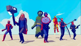 THESE AVENGERS ARE TΟO POWERFUL in Totally Accurate Battle Simulator