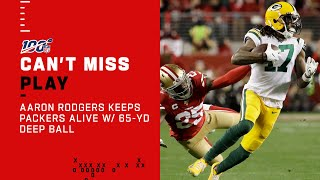 Aaron Rodgers Keeps Fighting w/ 65-Yd Deep Ball to Davante Adams