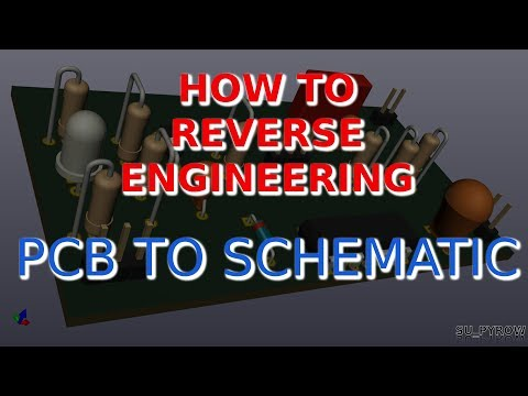 How to Reverse Enginner a PCB to Schematic Using KiCad Tracer Toner Part#4 SU_PYROW