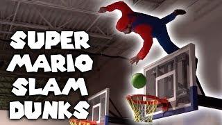 Mario VS Luigi Slam Dunk Contest (Insane Tricks!)