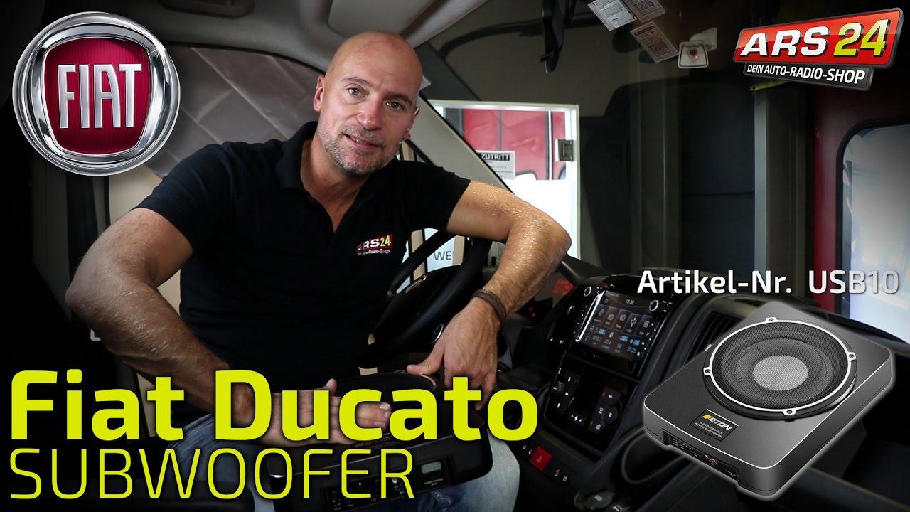Subwoofer Einbau FIAT Ducato || TUTORIAL || ARS24 - YouTube