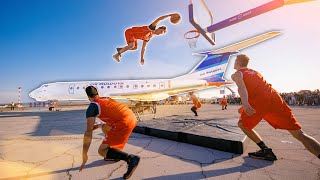 Crazy Airplane Dunk Show | Dunking Devils On Tour