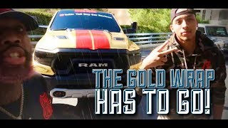 illegal-tallguycarreviews-gold-chrome-wrap-has-to-go