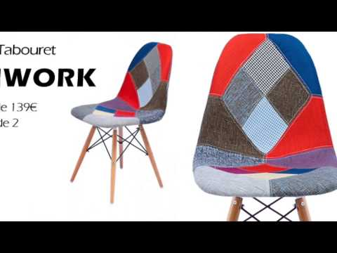 chaise patchwork tabouret de bar youtube. Black Bedroom Furniture Sets. Home Design Ideas