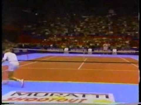 The Tennis Shootout 1990 final Lendl vs Svensson