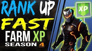 Fortnite How RANK UP FAST, UNLOCK OMEGA and CARBIDE Full ARMOR SET and UPGRADE FAST - FARM XP