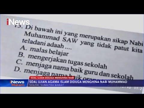 Soal Ujian SD Diduga Hina Nabi Muhammad Beredar Di Solok - INews Malam 13/12