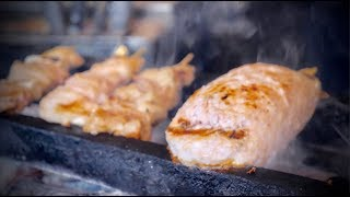 Japanese Grilled Skewers Yakitori big chicken meatball !!