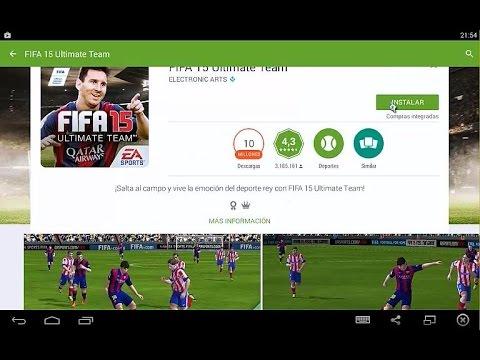 Jugando Juegos de Google Play - FIFA 15