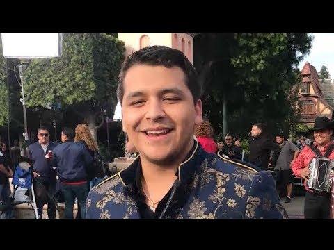 Christian Nodal Sings Adios Amor at Disneyland for Telemundo TV Show Un Nuevo Dia! 12102017