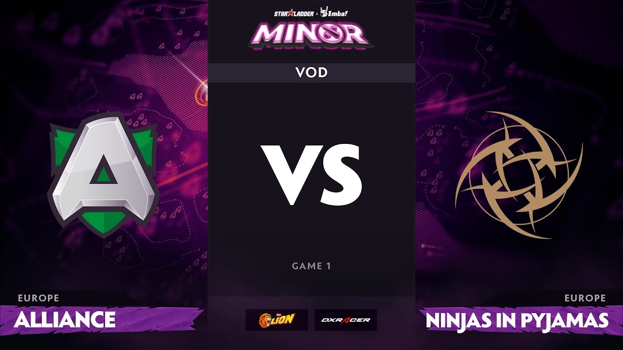 [RU] Alliance vs Ninjas in Pyjamas, Game 1, StarLadder ImbaTV Minor S2 EU Qualifiers