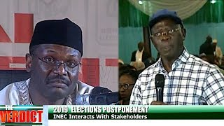 Oshiomhole Questions Timing Of Postponement, As INEC Chairman Regrets Decision
