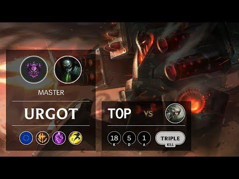 Urgot Top vs Camille - EUW Master Patch 9.6