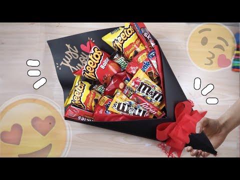 Regalo fácil y rápido San Valentin ♥ Ramo de dulces o bouquet