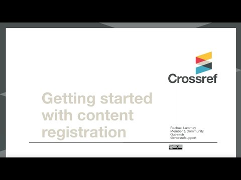 Content Registration & Maintaining your Metadata Webinar