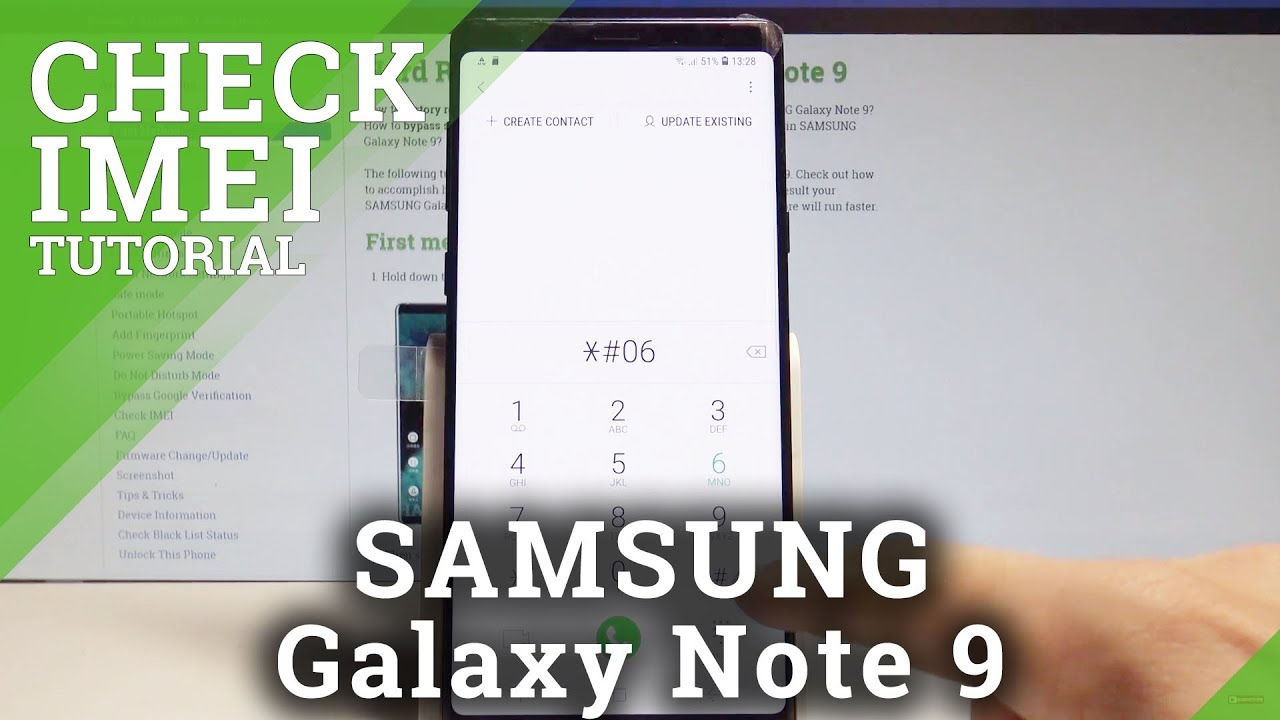 How to Check IMEI Number in SAMSUNG Galaxy Note 9