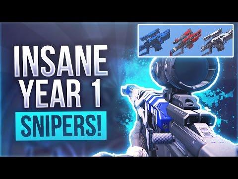 """Destiny INSANE RARE YEAR 1 SNIPERS - Destiny The Best Year 1 rare Snipers """"SCIPIO E"""""""