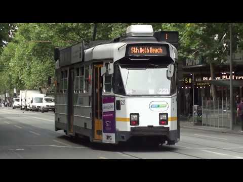 Trams at Bourke & Swanston Streets - Melbourne Transport
