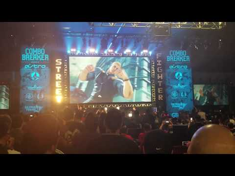 Street Fighter V Cody Trailer Live Crowd Reaction from Combo Breaker 2018