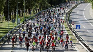 Demonstrators blocked Frankfurt highways for a greener traffic policy