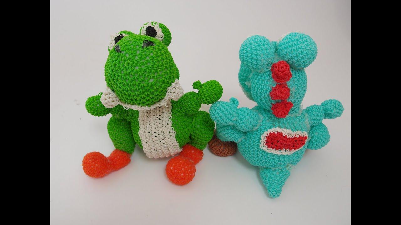 Amigurumi Monster Crochet Patterns : Yoshi Rainbow Loom Bands Amigurumi Loomigurumi Hook Only ...