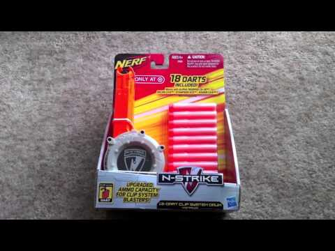 New Nerf 18 Dart Clip System Drum Youtube