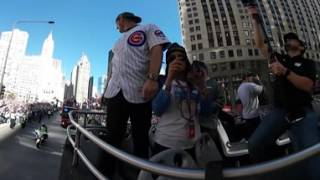 VR 360: Rizzo parades downtown Chicago with WS Trophy
