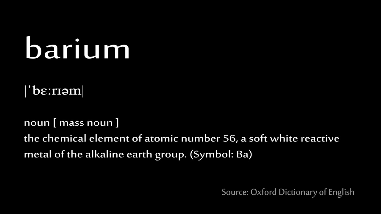 56 Barium How To Pronounce Chemical Elements Periodic Table