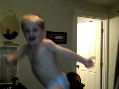 FUNNY BABY FALLING OFF BED