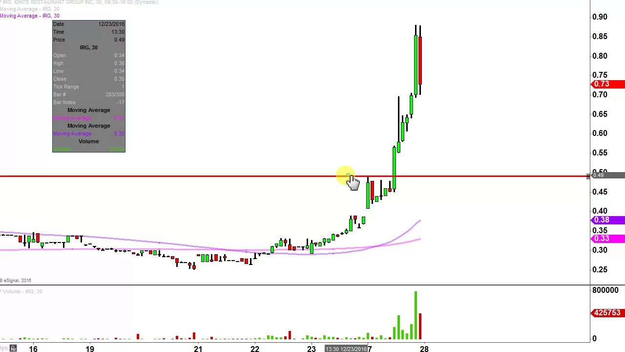 Ignite Restaurant Group Inc Irg Stock Chart Technical Analysis