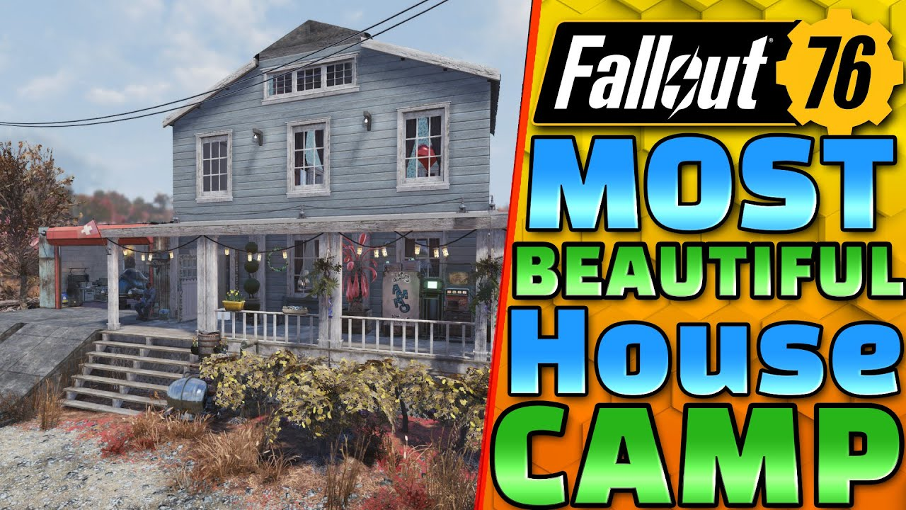 The PRETTIEST House FALLOUT 76! - Fallout 76 CAMP Building
