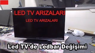 Led TV  ekran tamiri (Ses var görüntü yok arızası)  çok ilginç.