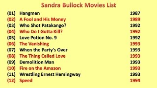 Sandra Bullock Movies List